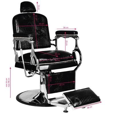 Бръснарски стол Алфредо - черен