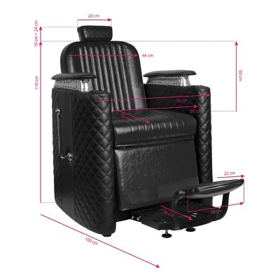 Бръснарски стол Бернардо – черен