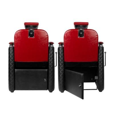 Бръснарски стол Бернардо – червен