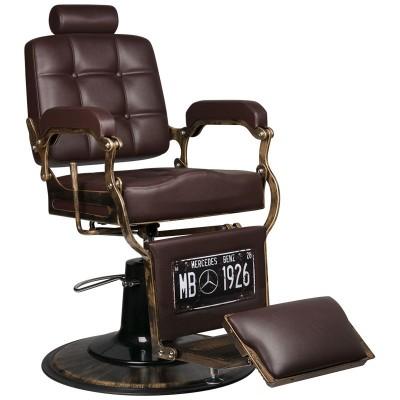 Бръснарски стол Boss - кафяв