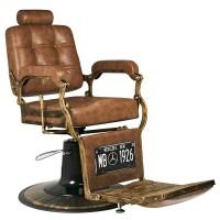 Бръснарски стол Boss - светло кафяв