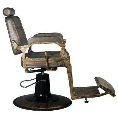 Бръснарски стол Boss - тъмно кафяв