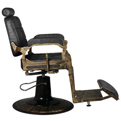 Бръснарски стол Boss - старинна кожа
