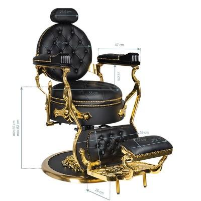 Бръснарски стол Цезар – златно и черно