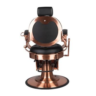 Бръснарски стол Клаудиус - черен с медно