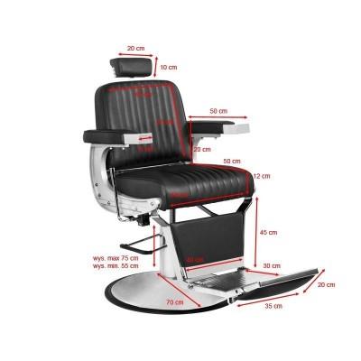 Бръснарски стол Континентал - черен