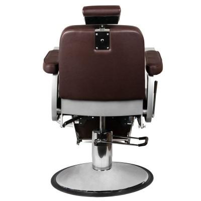 Бръснарски стол Континентал - кафяв