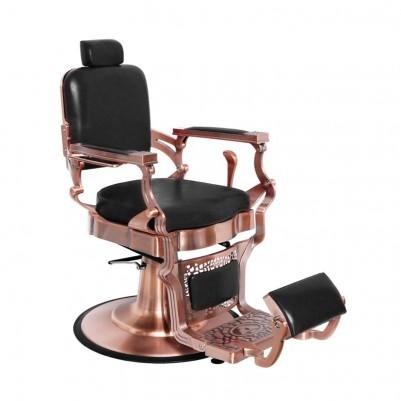 Бръснарски стол Корадо - черен с медно