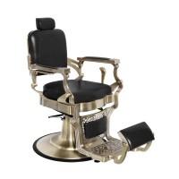 Бръснарски стол Корадо - черен със сребърно