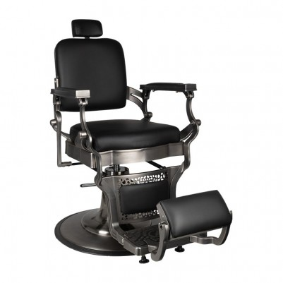 Бръснарски стол Корадо - сатенено черно