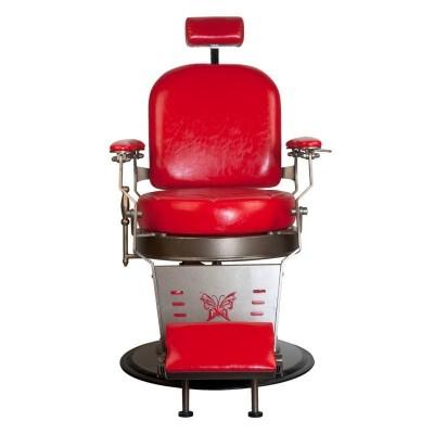Бръснарски стол Граф - червен