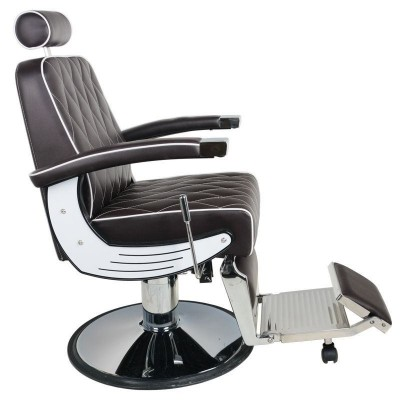Бръснарски стол Империал - кафяв