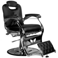 Бръснарски стол Карло - черен
