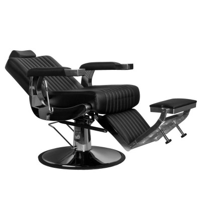 Бръснарски стол Лино - черен