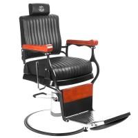 Бръснарски стол Мастър - черен