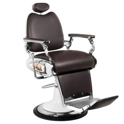 Бръснарски стол Мото - кафяв