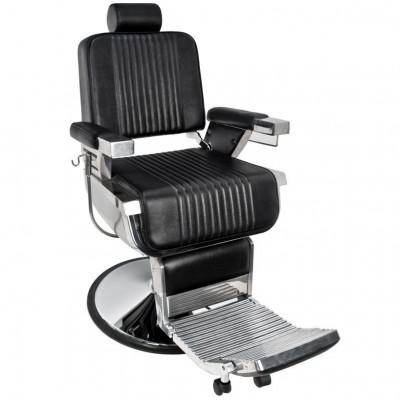 Бръснарски стол Пиано - черен