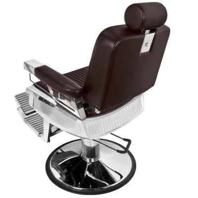 Бръснарски стол Пиано - кафяв