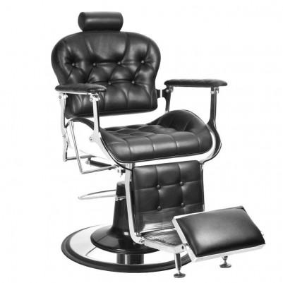 Бръснарски стол Премиер - черен