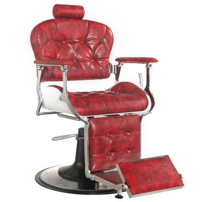 Бръснарски стол Премиер - червен
