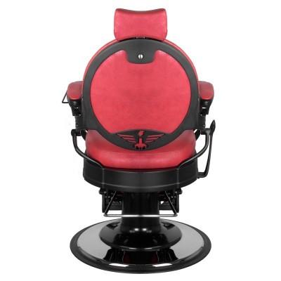 Бръснарски стол Президент - червен