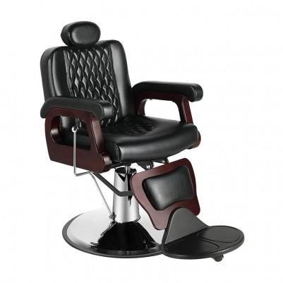 Бръснарски стол Роко – черно и бордо