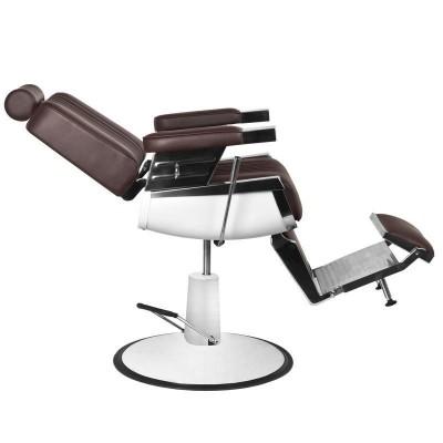 Бръснарски стол Роял - кафяв