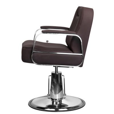 Бръснарски стол Руфо - кафяв