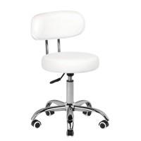 Бял ергономичен стол за педикюр