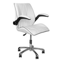 Бял козметичен работен стол