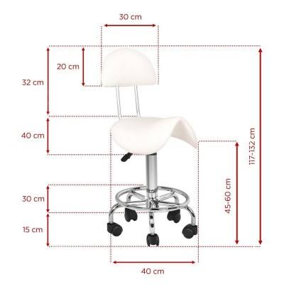 Бял козметичен стол