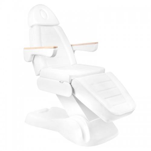 Бял козметичен стол електрически Lux - 3 двигателя