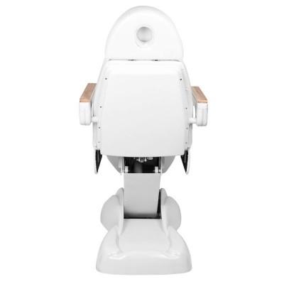 Бял козметичен стол електрически Lux