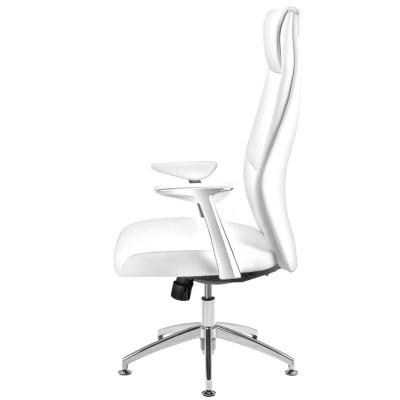 Бял козметичен стол за педикюр