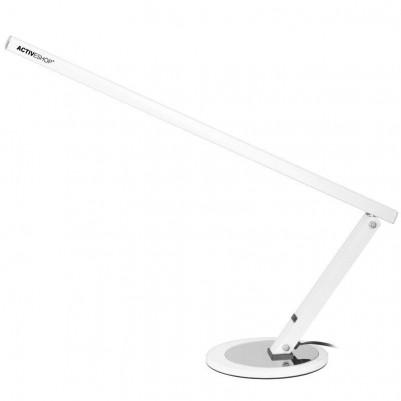 Бяла LED алуминиева лампа за бюро