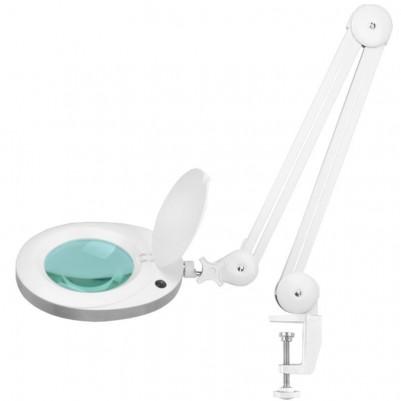 Бяла LED лампа лупа Elegante