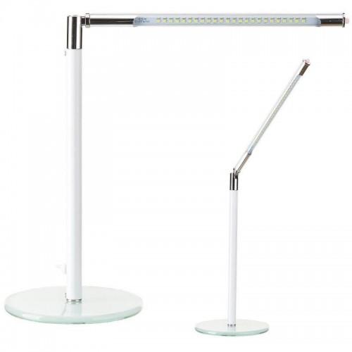 Бяла лед лампа за бюро