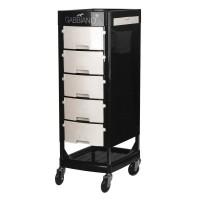 Бяло-черна фризьорска количка