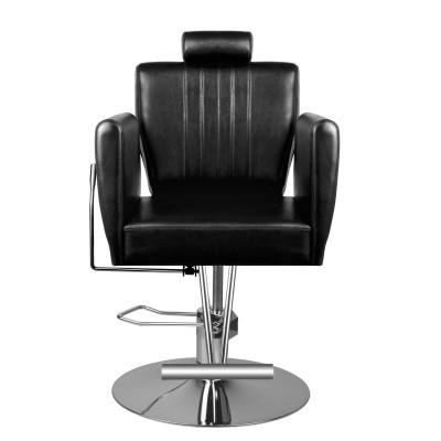 Черен бръснарски стол