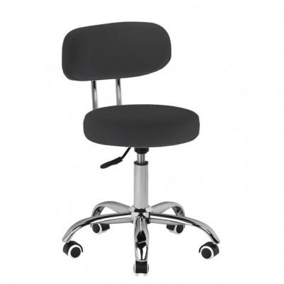 Черен ергономичен стол за педикюр