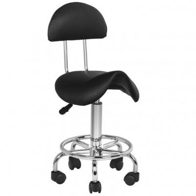 Черен козметичен стол