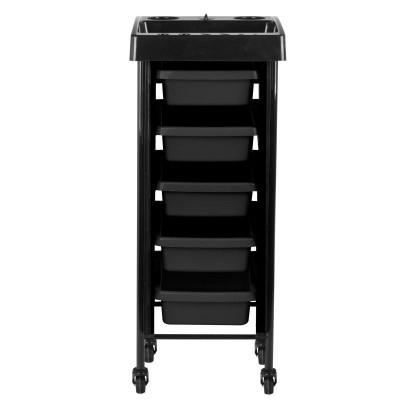Черна фризьорска количка с таймер
