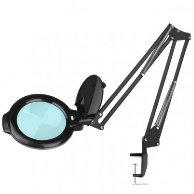 "LED лампа лупа Moonlight 6"" - черна"