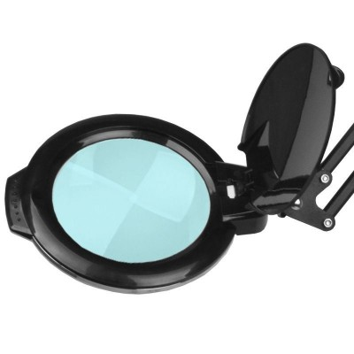 Черна мини лампа лупа за бюро