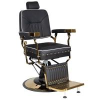 Черно-златен бръснарски стол Филипо