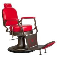 Червен бръснарски стол