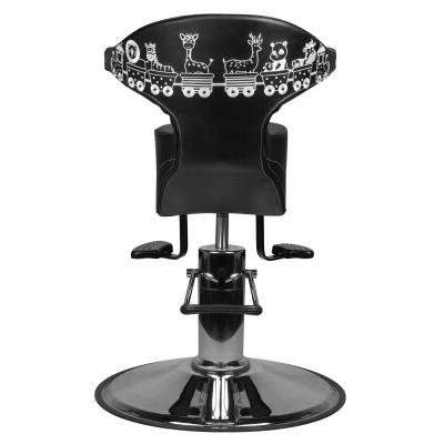 Детски фризьорски стол конче – черен