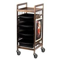 Двустранна фризьорска количка