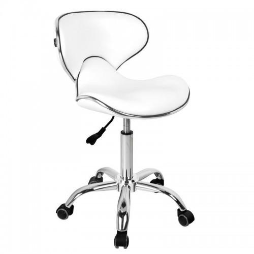 Елегантен бял козметичен стол