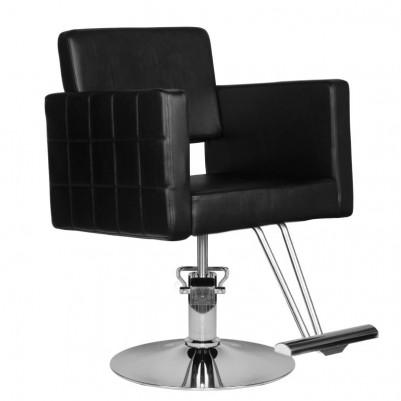 Елегантен черен фризьорски стол